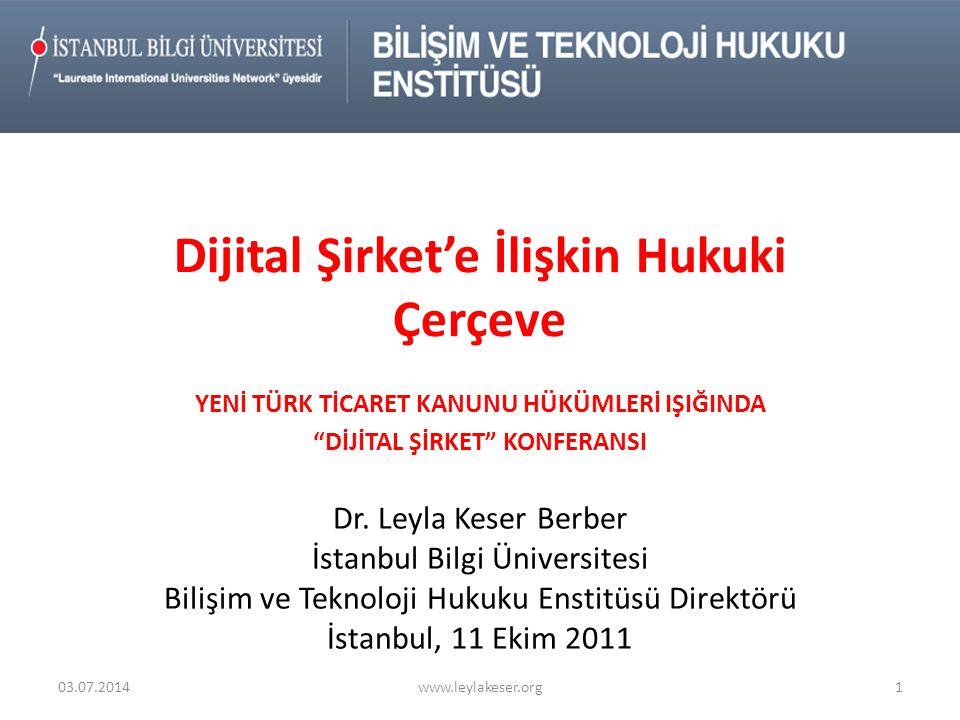 Yeni TTK'da Yer Alan Bilişimle İlgili Hükümler-V- • İnternet Sitesi sözcüğünü içeren hükümler – md.