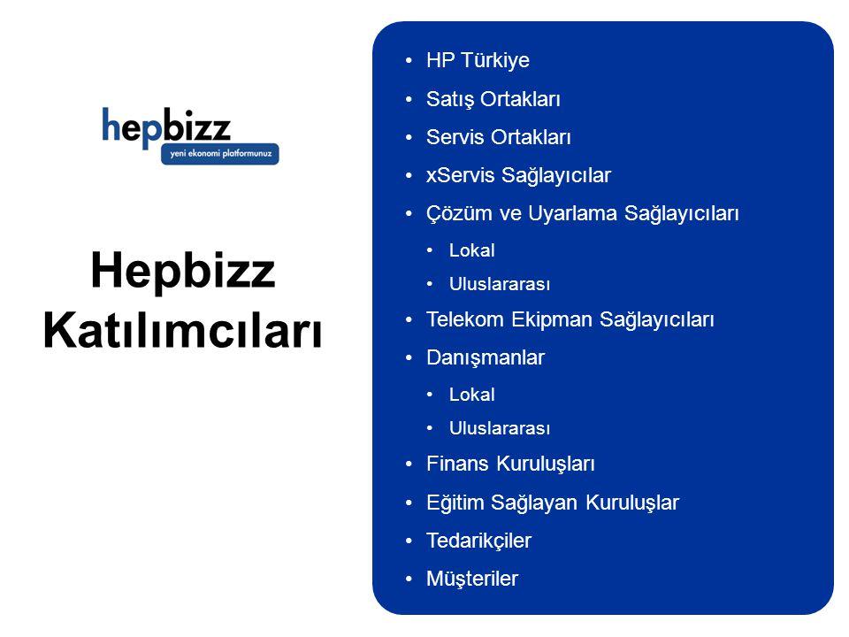 Hepbizz Katılımcıları •HP Türkiye •Satış Ortakları •Servis Ortakları •xServis Sağlayıcılar •Çözüm ve Uyarlama Sağlayıcıları •Lokal •Uluslararası •Tele