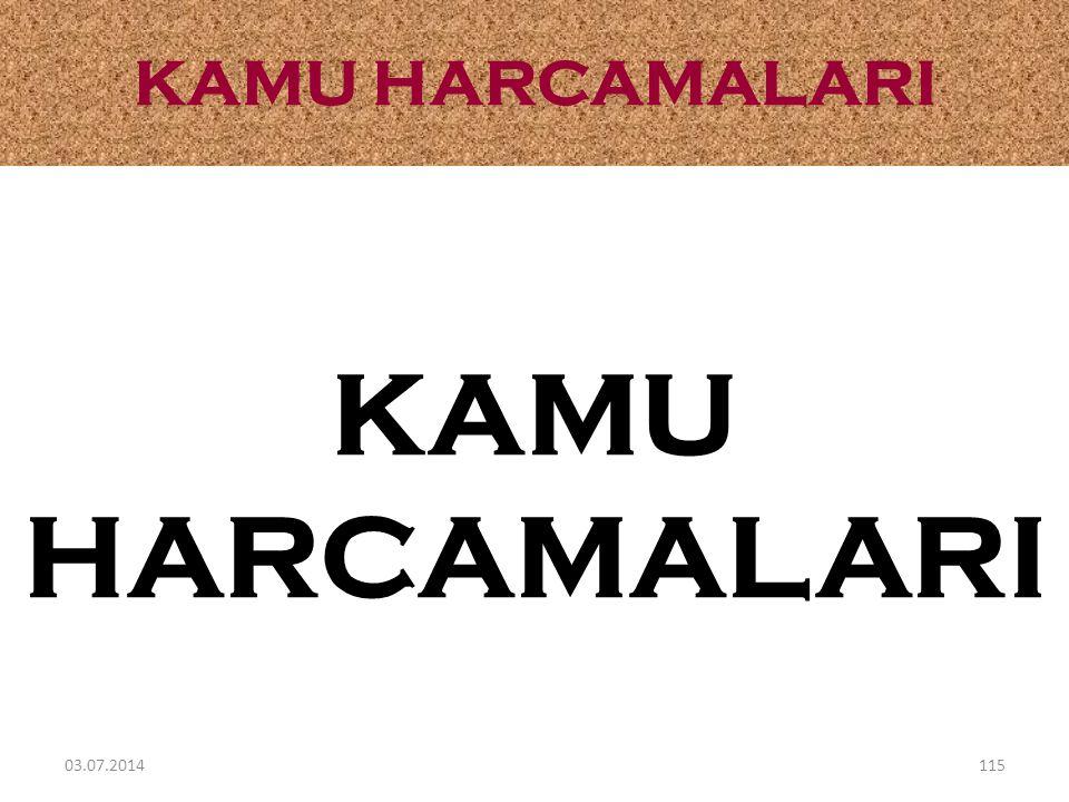 KAMU HARCAMALARI 03.07.2014115