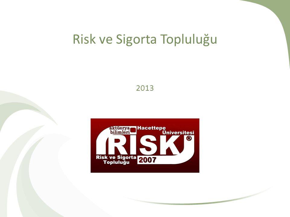 Risk ve Sigorta Topluluğu 2013