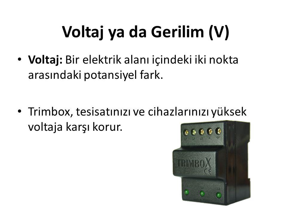 • Akım: Elektriksel yük • Sigortalar akım koruması sağlar, voltajla ilgili bir işlevleri yoktur. Akım (A)