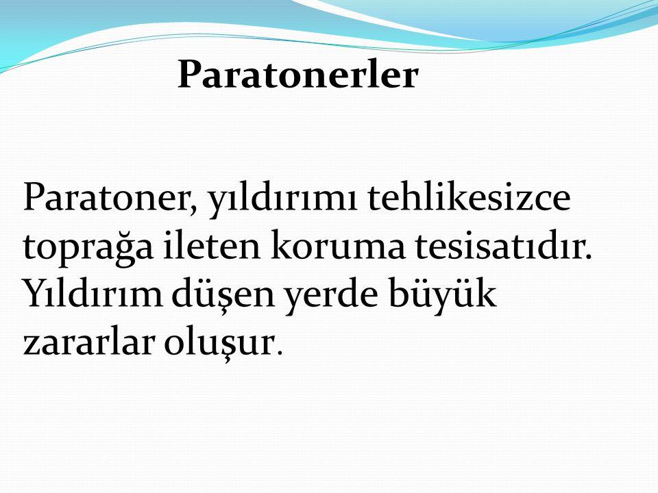 Paratoner, yıldırımı tehlikesizce toprağa ileten koruma tesisatıdır. Yıldırım düşen yerde büyük zararlar oluşur. Paratonerler