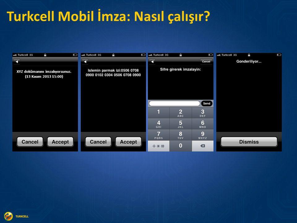 Turkcell Mobil İmza: Nasıl çalışır? XYZ dokümanını imzalıyorsunuz. (13 Kasım 2013 15:00)