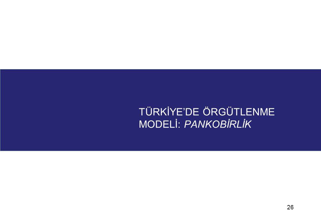 TÜRKİYE'DE ÖRGÜTLENME MODELİ: PANKOBİRLİK 26