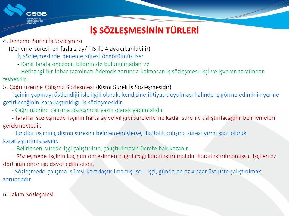 BİLDİRİMLİ FESİH TÜRLERİ a.