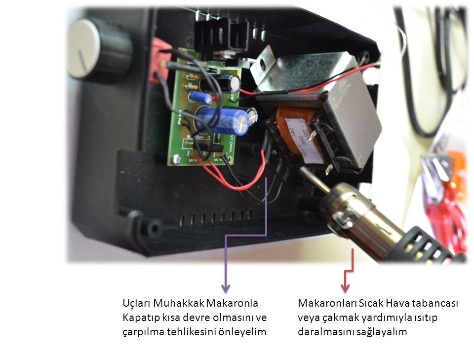 LCD Besleme Girişi (Ana Karttaki LCD Yazan Kablolar Bağlanacak) Ölçüm Uçları (Ana Karttaki OUT çıkışlarıyla beraber bağlanıp Born vidalarına lehimlenecek) LCD ARKA PLAN GÖRÜNTÜSÜ