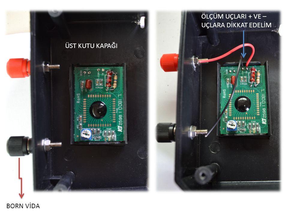 LCD'nin Besleme Uçlarına Lehimlenecek Born Vidalarına Lehimlenecek