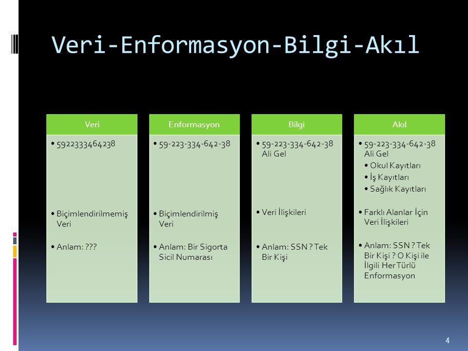 Enformasyon Kalitesi ve Kullanılabilirliği  Enformasyon sisteminin tasarımını etkileyen temel güçlerden biri, kullanıcının ihtiyaçlarının belirli enformasyon gereksinimlerinden türetilmiş olmasıdır.