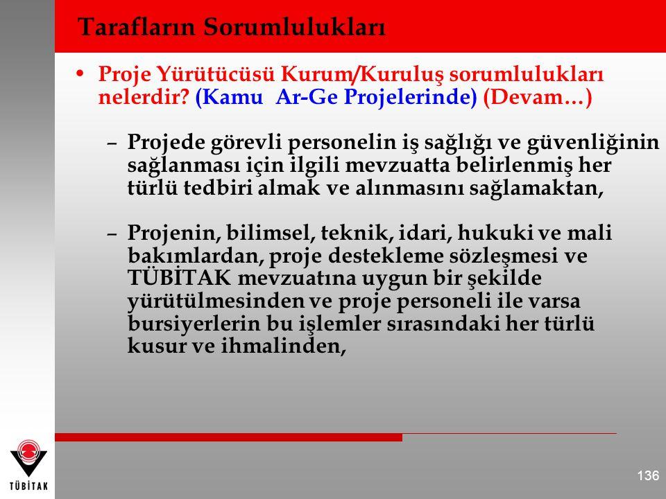 • Proje Yürütücüsü Kurum/Kuruluş sorumlulukları nelerdir? (Kamu Ar-Ge Projelerinde) (Devam…) – Projede görevli personelin iş sağlığı ve güvenliğinin s