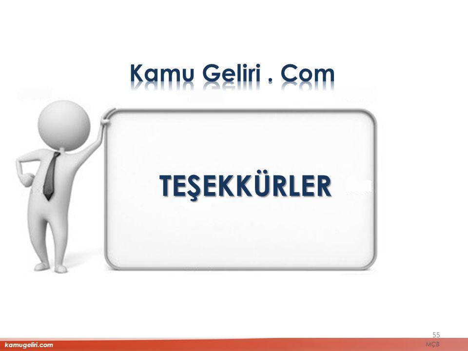 TEŞEKKÜRLER 55 kamugeliri.com MÇB