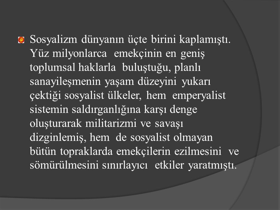 II.Sosyalist İktidarın Programı A. Siyasal Yapı 1.