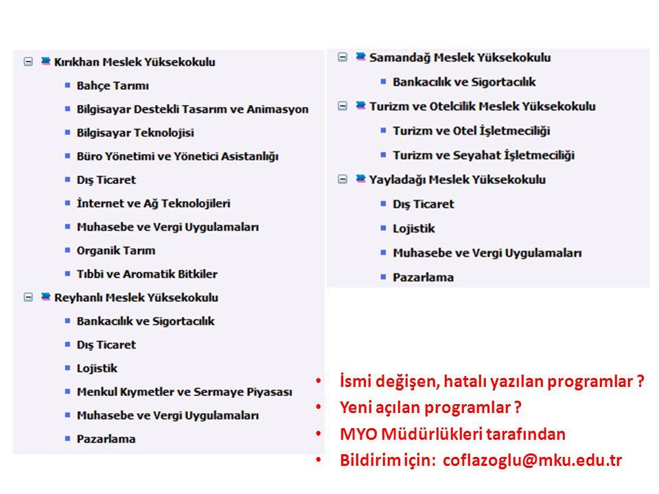 MYO ORTAK PROGRAMLAR BOLOGNA KOORDİNASYON KURULU GÖREVLERİ Liste Aynı isimli Bölüm ve/veya Programa sahip olan MYO'larının; • Bölüm/program amaçları, • Bölüm/Program Yeterliliklerinin (Öğrenme Çıktıları), • Bölüm/Program Vizyon ve Misyonları, • Kazanılan derece, derecenin seviyesi, çalışma şekli,kayıt ve kabul koşulları, önceki öğrenmenin tanınması, mezuniyet koşulları, program profili, sınavlar, ölçme ve değerlendirme, mezunların istihdam olanakları, üst derece programlarına geçiş, vb.), Ders planı-AKTS Kredileri, Öğrenme Çıktıları Matrisi, Ders Katagorileri, gerekli ise Bölüm/Program Müfredatlarının Belirlenmesi/Revizyonu vb.