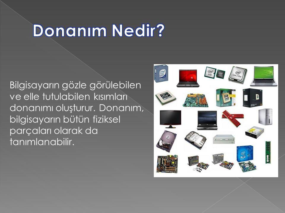 Bilgisayarın kullanılmasını sağlayan her türlü program ise yazılım olarak adlandırılır.