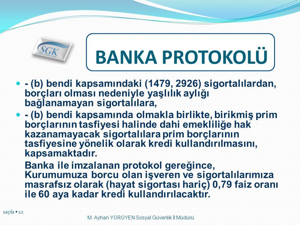 sayfa  22  - (b) bendi kapsamındaki (1479, 2926) sigortalılardan, borçları olması nedeniyle yaşlılık aylığı bağlanamayan sigortalılara,  - (b) bend