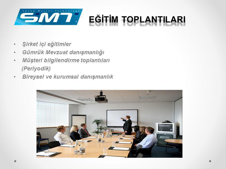 EĞİTİM TOPLANTILARI •Şirket içi eğitimler •Gümrük Mevzuat danışmanlığı •Müşteri bilgilendirme toplantıları (Periyodik) •Bireysel ve kurumsal danışmanl