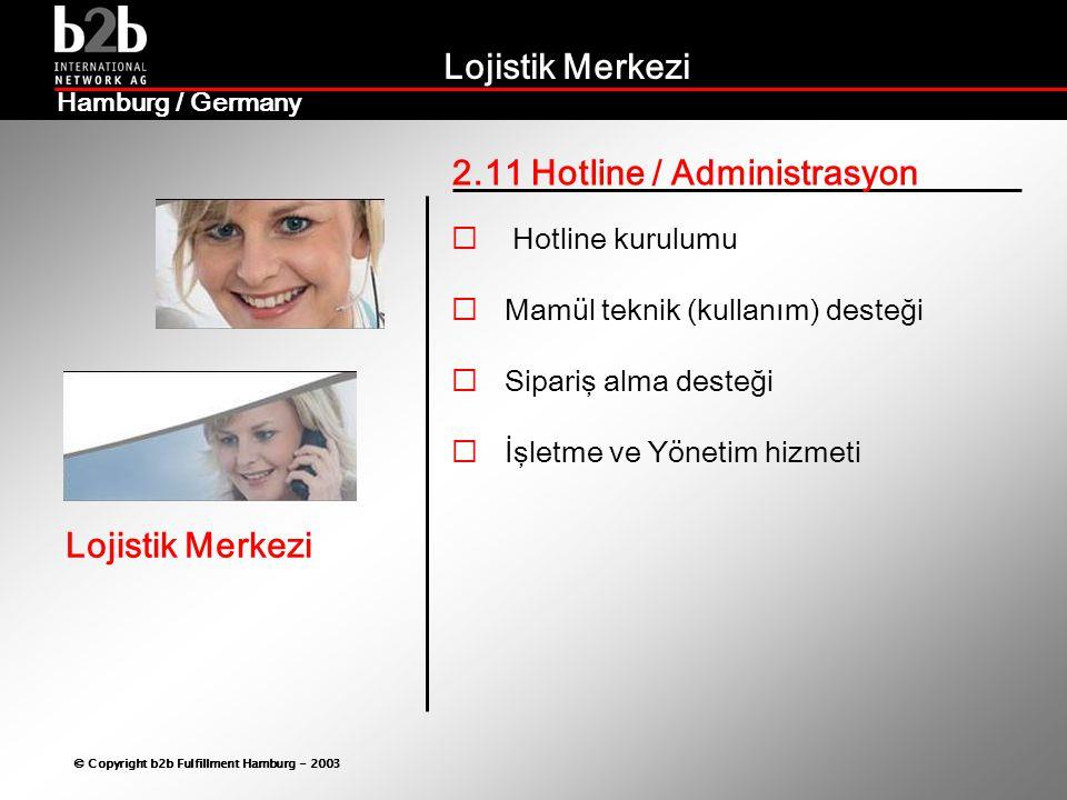 Lojistik Merkezi © Copyright b2b Fulfillment Hamburg - 2003 Lojistik Merkezi Hamburg / Germany 2.11 Hotline / Administrasyon  Hotline kurulumu  Mamü