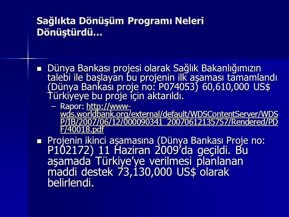  2003 yılı başında, daha önceki hükümetlerin uygulamada tereddüt ettikleri programı Sn.