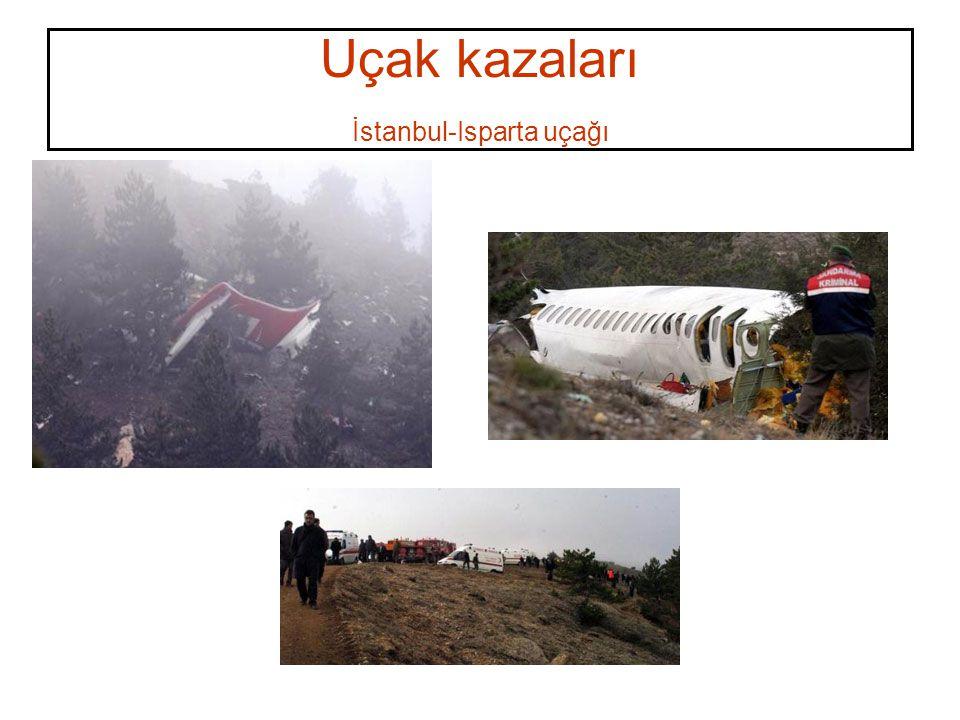 Uçak kazaları İstanbul-Isparta uçağı