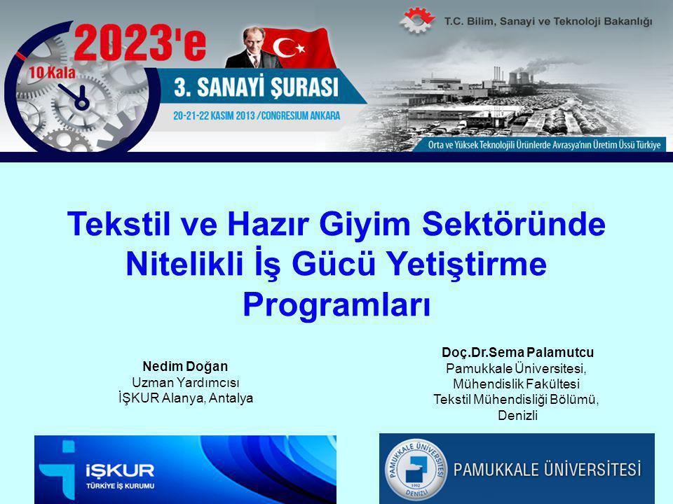 Türkiye'de sektörün coğrafi dağılımı ve istihdam oranları Kaynak: http://www.isc.hbs.edu/pdf/Student_Projects/2012%20MOC%20Papers/MOC%20-%20Turkey%20Textiles%20and%20Apparel%20Cluster.pdfhttp://www.isc.hbs.edu/pdf/Student_Projects/2012%20MOC%20Papers/MOC%20-%20Turkey%20Textiles%20and%20Apparel%20Cluster.pdf Turkish Textile and apperal cluster