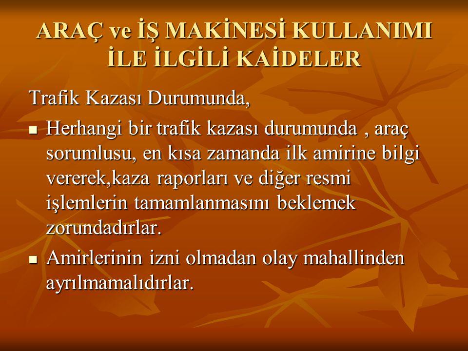 BİR ANLIK DİKKATSİZLİK ve SONUÇLARI!!!.