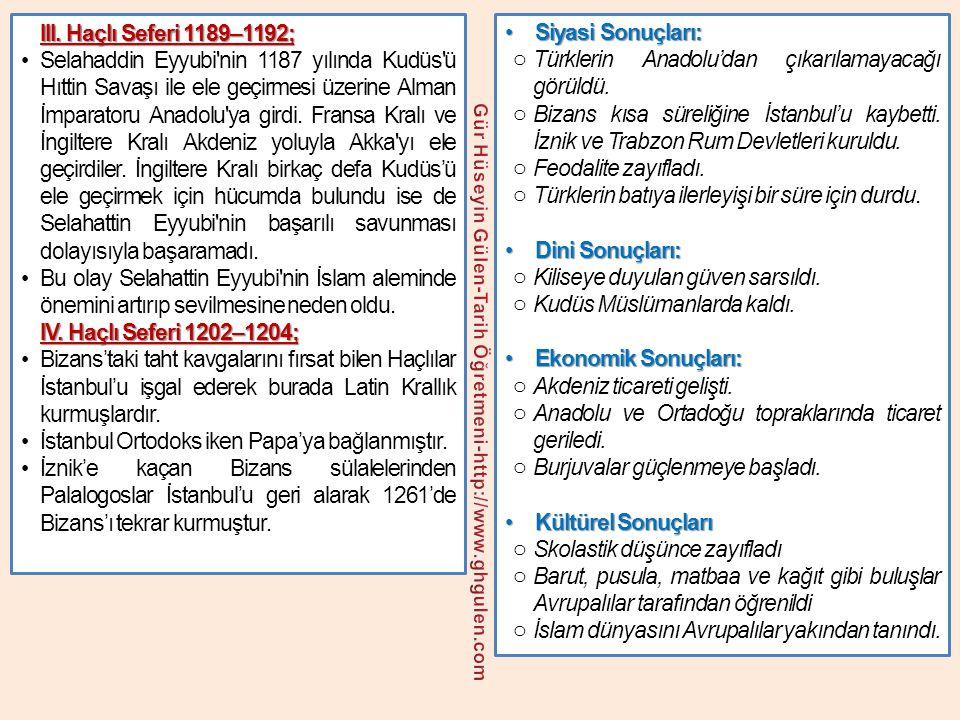 •Siyasi Sonuçları: o Türklerin Anadolu'dan çıkarılamayacağı görüldü. o Bizans kısa süreliğine İstanbul'u kaybetti. İznik ve Trabzon Rum Devletleri kur