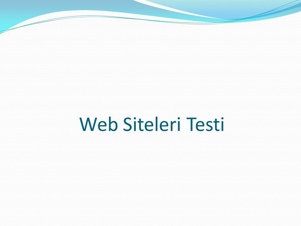 Web Siteleri Testi