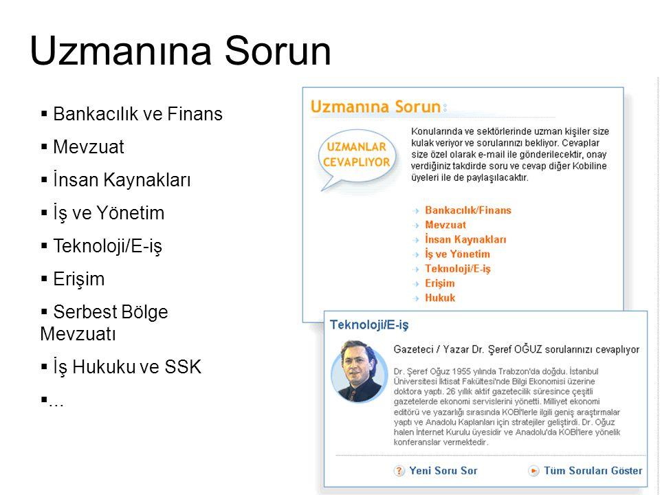  Bankacılık ve Finans  Mevzuat  İnsan Kaynakları  İş ve Yönetim  Teknoloji/E-iş  Erişim  Serbest Bölge Mevzuatı  İş Hukuku ve SSK ... Uzmanın