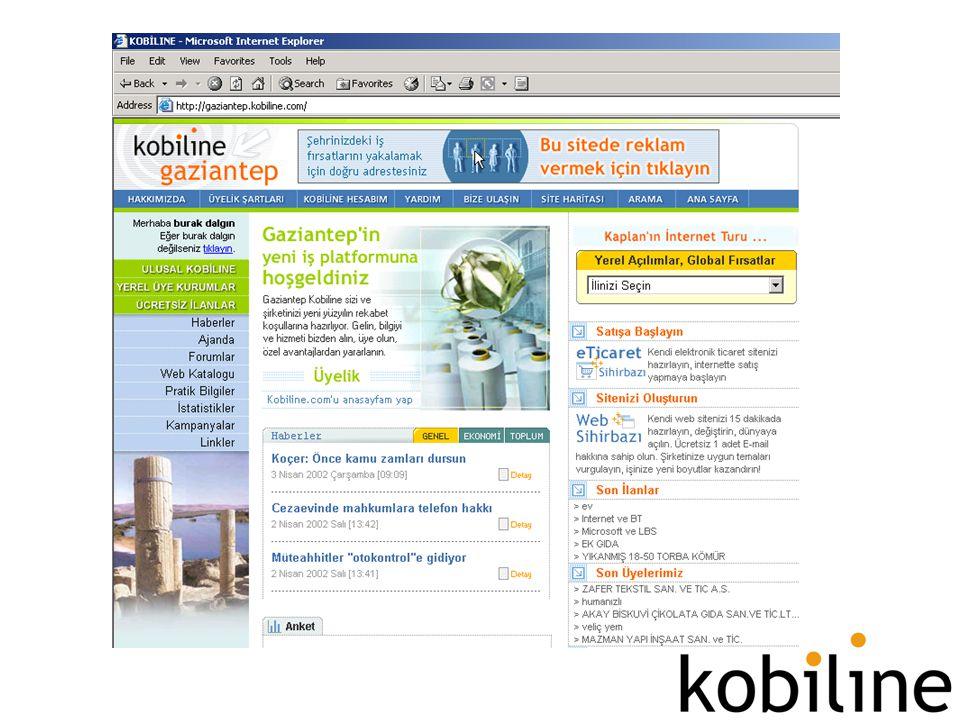 Talepler - Sonuçlar •Yerel Açılımlar –6 ilde eğitimler –16 ile özel web sitesi • Çözüm Paketleri –Erişim, uzaktan eğitim, yazılım kiralama, web sitesi, bankacılık ve eTicaret