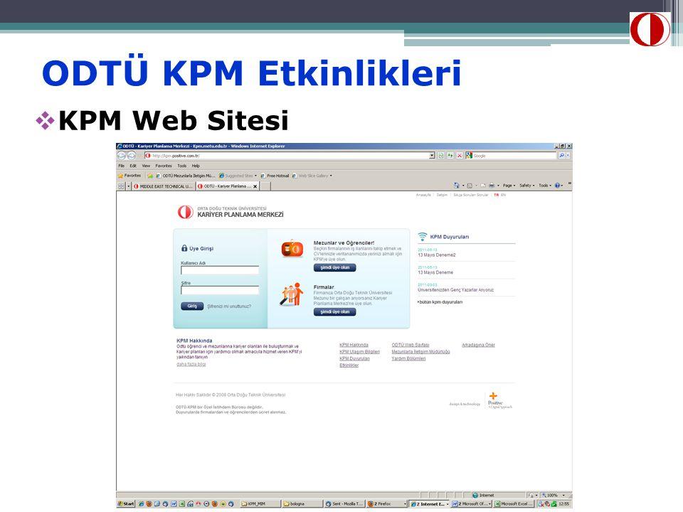 ODTÜ KPM Etkinlikleri  KPM Web Sitesi
