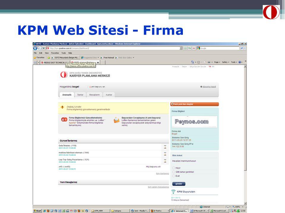 KPM Web Sitesi - Firma