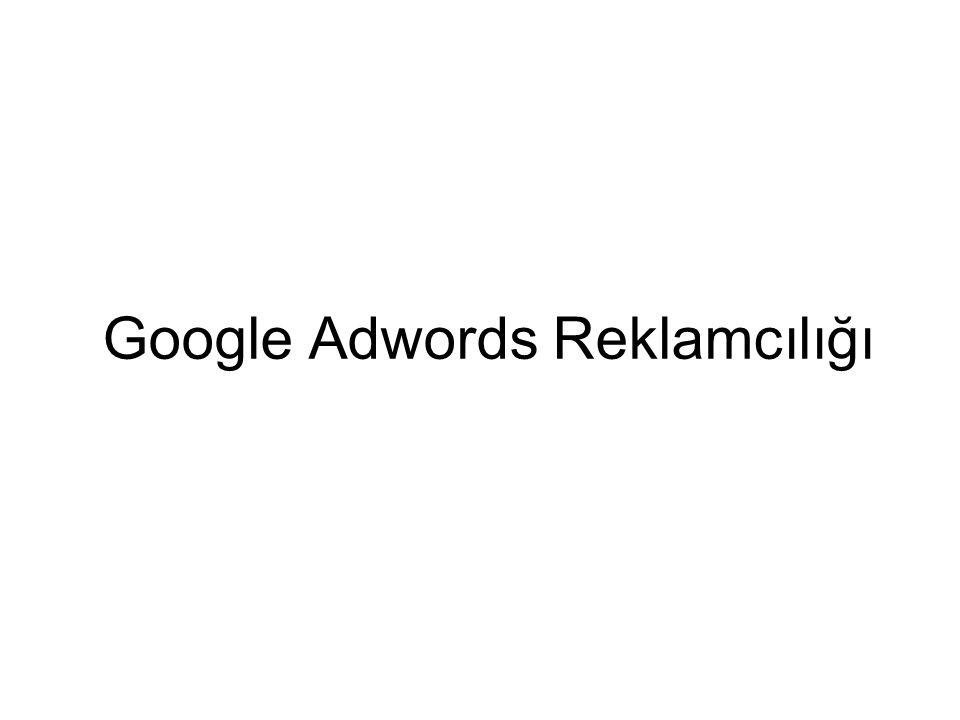 Google Adwords Reklamcılığı
