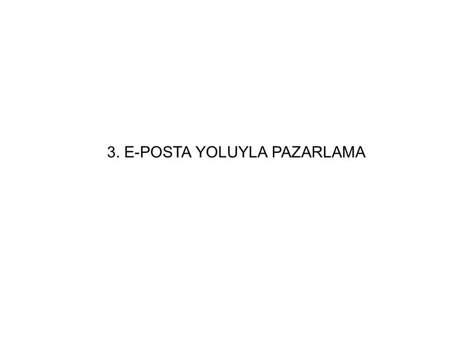 3. E-POSTA YOLUYLA PAZARLAMA