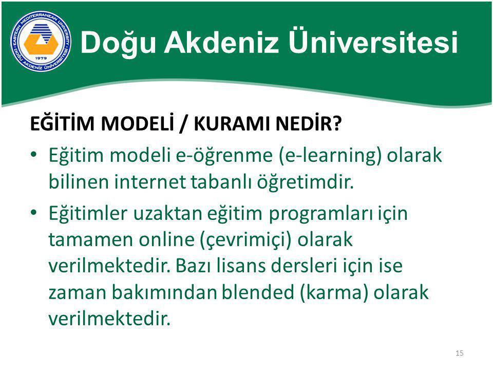 15 EĞİTİM MODELİ / KURAMI NEDİR? • Eğitim modeli e-öğrenme (e-learning) olarak bilinen internet tabanlı öğretimdir. • Eğitimler uzaktan eğitim program