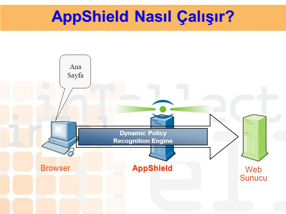 AppShield Nasıl Çalışır? Güvenlik Politikası; Dynamic Behavior Policy Recognition (DPR) kullanarak tanınır, Adaptive Reduction Technology (ART) kullan
