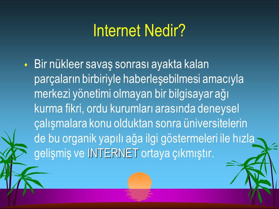 Internet : Bilgisayar ağlarının ağı