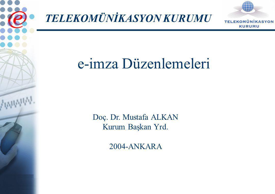 E-İmza Dünya Örnekleri ve Uygulamaları Ülke AdıSorumlu Kurululuş99/93/EC Nolu Direktifi Yürürlüğe Koyan Yasa ve Yönetmelikler AlmanyaAlmanya Telekomünikasyon ve Posta Regülasyon Kurumu- Reg Tp (Regulatory Authority for Telecommunications and Posts- RegTp) Kök sertifikasyon kurumu olarak görevlerini yürütmektedir.