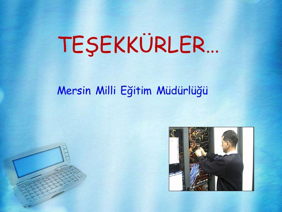 TEŞEKKÜRLER… Mersin Milli Eğitim Müdürlüğü