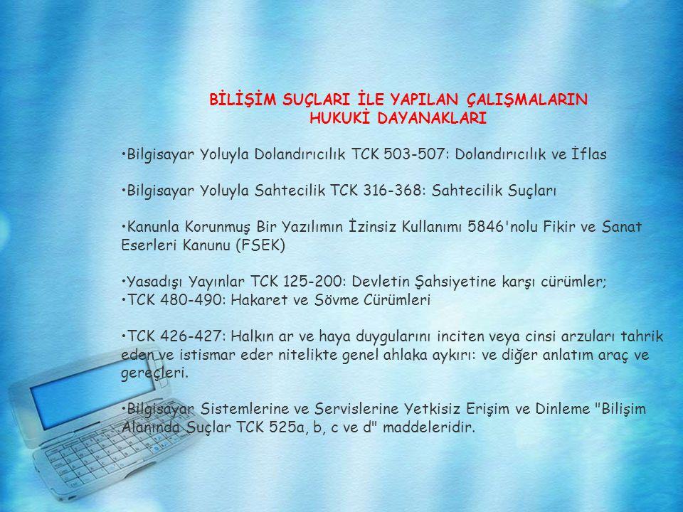 YENİ TCK DA BİLİŞİM SUÇLARI 1 Nisan 2005 tarihinde yürürlüğe giren yeni TCK nın kapsamında, bilişim sistemlerine karşı işlenen suçları da gerekçeleriyle birlikte yer alıyor.