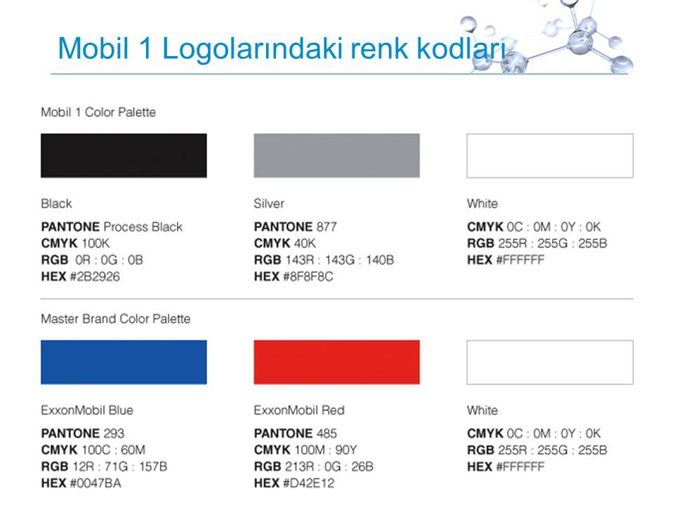 Proprietary11 Mobil 1 Logolarındaki renk kodları