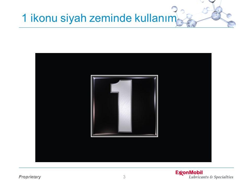 Proprietary4 1 ikonu siyah zeminde kullanım •Kenarlarda beyaz kontür olmalı.