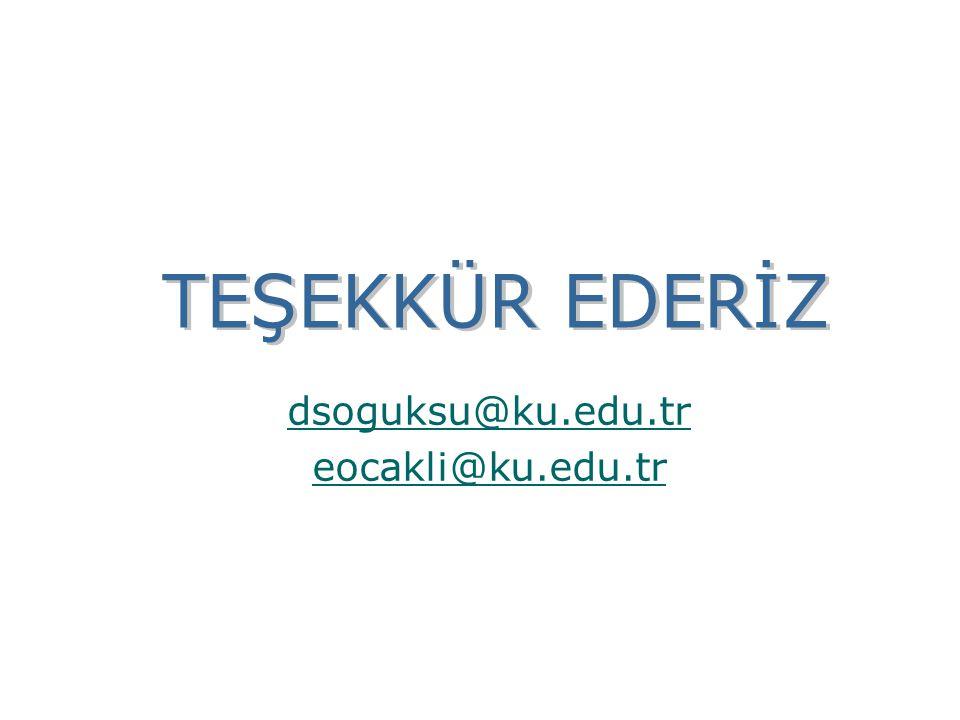dsoguksu@ku.edu.tr eocakli@ku.edu.tr