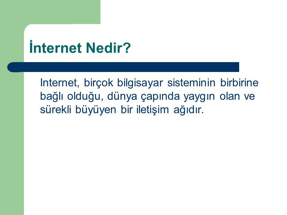İnternet Nedir.