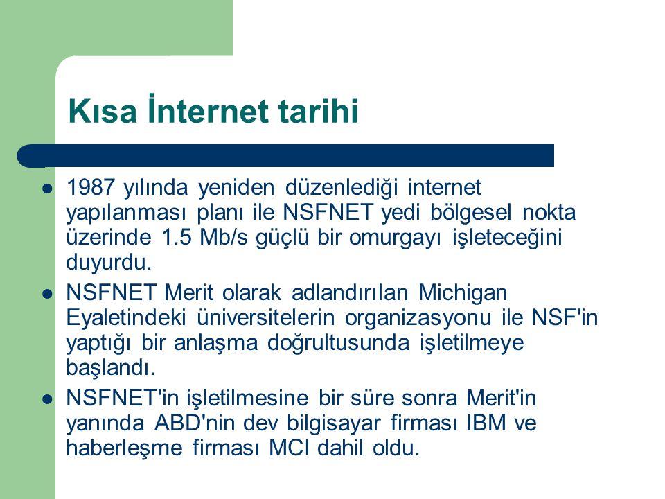 İnternet ve eğitim  Artık günümüzde İnternet, Bilimsel araştırmaların, üretkenliğin, küresel değişmelerin, küresel ticaretin ve eğitimin ana bilgi kaynağı durumuna gelmiştir.