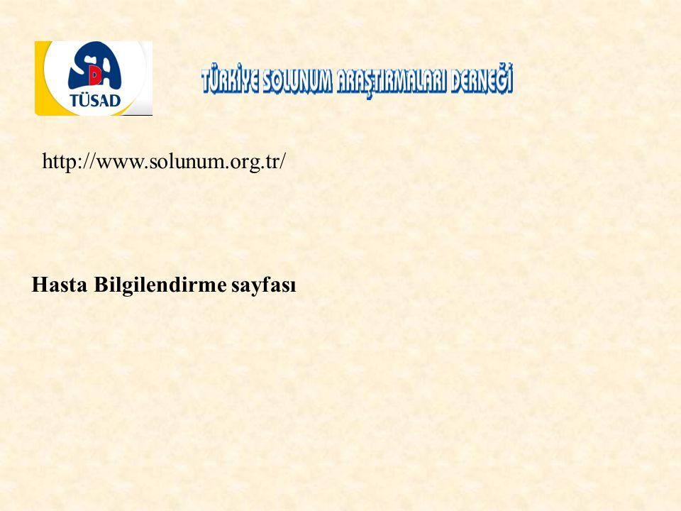 http://www.solunum.org.tr/ Hasta Bilgilendirme sayfası