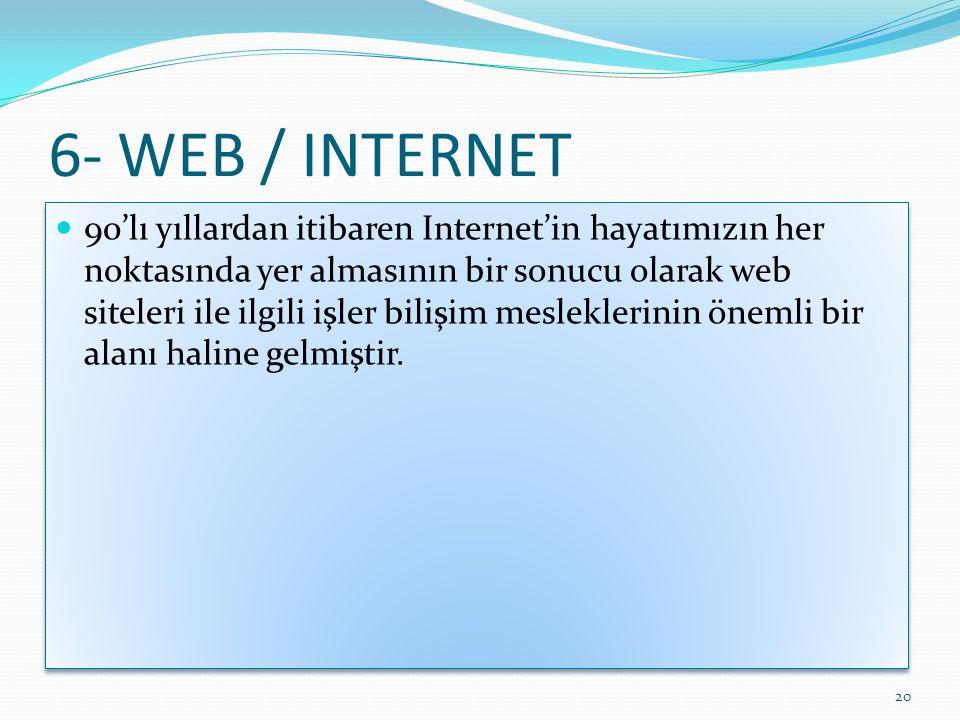 6- WEB / INTERNET 20