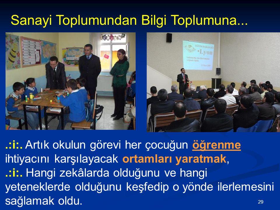 29.:i:.Artık okulun görevi her çocuğun öğrenme ihtiyacını karşılayacak ortamları yaratmak,.:i:.