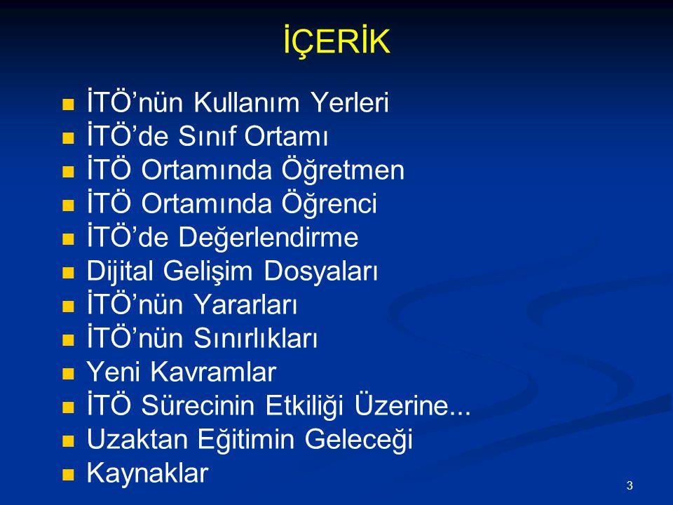 64 Örgün Derslerin İnternete Dayalı Sunulması Derslerini internete dayalı yürüten bazı üniversiteler; Sakarya Üniversitesi http://www.uzem.sakarya.edu.tr/ Anadolu Üniversitesi http://eogrenme.aof.edu.tr/ İstanbul Üniversitesi http://uzaktanegitim.istanbul.edu.tr/ Orta Doğu Teknik Üniversitesi http://idea.metu.edu.tr/ Fırat Üniversitesi http://lms.firat.edu.tr/default.asp