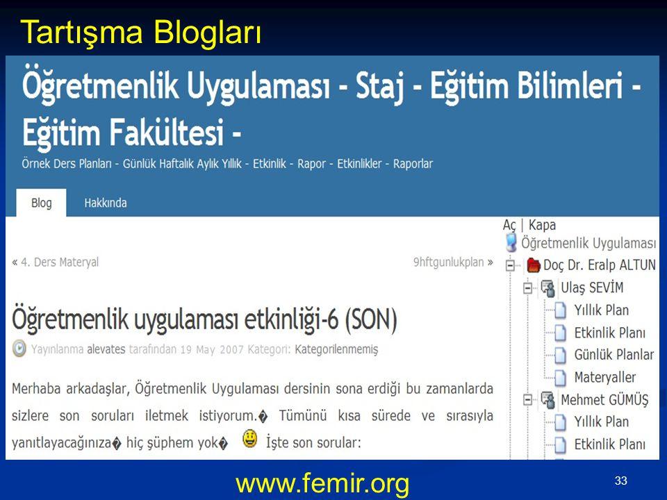 33 www.femir.org Tartışma Blogları