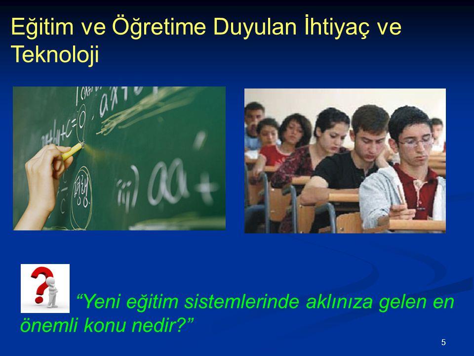 """5 Eğitim ve Öğretime Duyulan İhtiyaç ve Teknoloji """"Yeni eğitim sistemlerinde aklınıza gelen en önemli konu nedir?"""""""