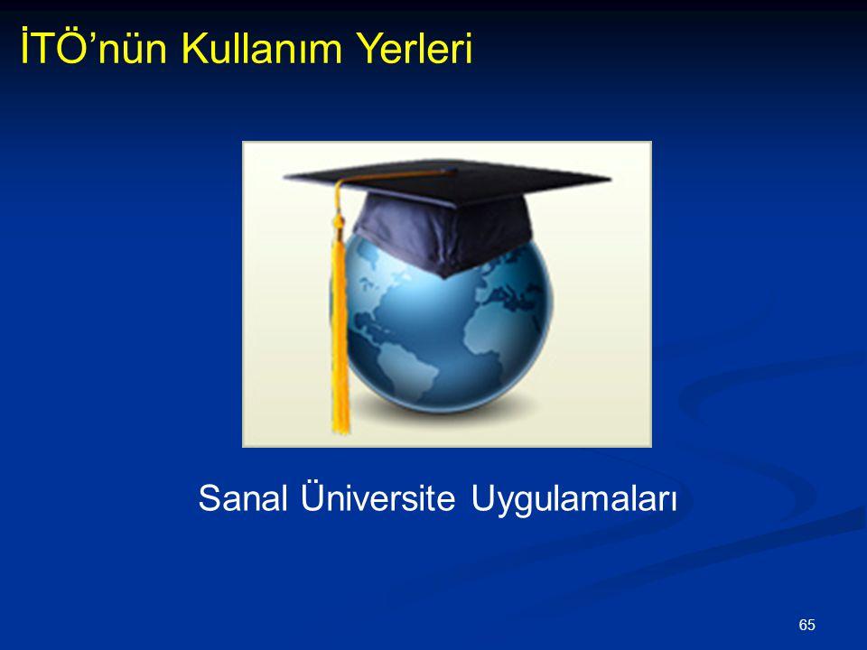 65 İTÖ'nün Kullanım Yerleri Sanal Üniversite Uygulamaları